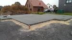 Bodenplatte mit Bitumen
