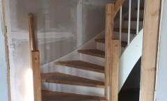 Treppe und Küchenumplanung